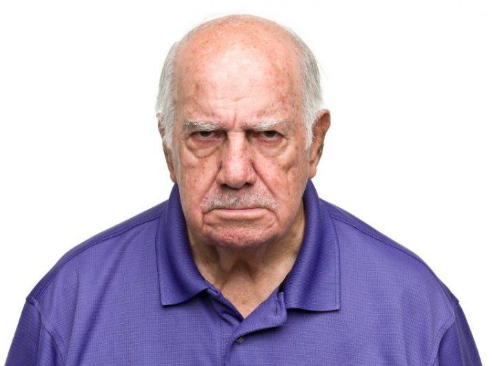 A grumpy old teacher.