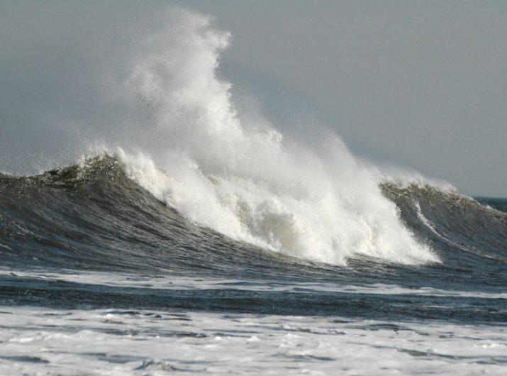 Wind causes big waves. Flickr Image Credit: Peter Mulligan